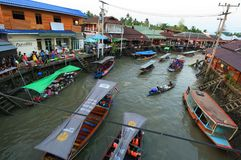 Amphawa market canal Royalty Free Stock Photography