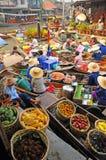 Amphawa Spławowy rynek, Amphawa, Tajlandia Zdjęcia Royalty Free