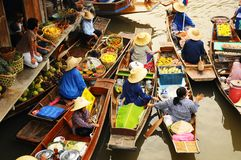 Amphawa Spławowy rynek, Amphawa, Tajlandia Obraz Stock