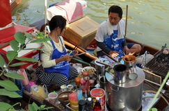 Amphawa, Thailand: Floating Market Food Vendors Stock Images