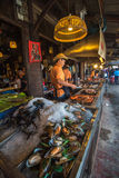 AMPHAWA, THAILAND - January, 24, 2016: Food stalls at Amphawa Stock Image
