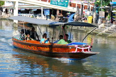 Amphawa, Thailand: Long Boat on Canal Royalty Free Stock Photo