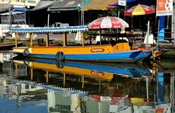 Amphawa, Thailand: Touring Boat on Canal Royalty Free Stock Photos