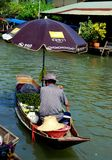 Amphawa, Thailand: Vendor at Floating Market Royalty Free Stock Image