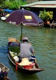 Amphawa, Thailand: Vendor at Floating Market Royalty Free Stock Image
