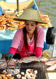 Amphawa, Thailand: Woman at Floating Market Stock Image