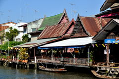 Amphawa, Thailand: Wooden Thai Houses Stock Image