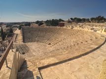 Ampheteatr of Kourion Royalty Free Stock Photos