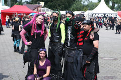 Amphi Festival - gothic friends Royalty Free Stock Image