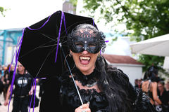 Amphi Festival - Gothic vampire Stock Photos