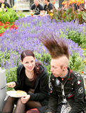 Amphi Festival - Resting goth couple Stock Images
