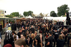 Amphi Festival - visitors Royalty Free Stock Photo