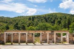 Amphiareio -古希腊剧院 免版税库存图片