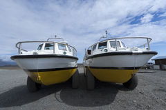 Amphibian boat Stock Images