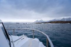 Amphibian boat on lagoon. Amphibian boat on jokullsarlon glacial lagoon iceland Stock Image