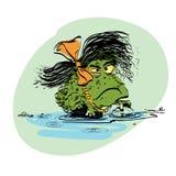 Amphibian frog girl Stock Image