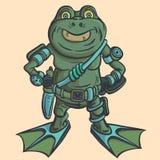 Amphibian warrior. Alien alien intelligence. Royalty Free Stock Photo