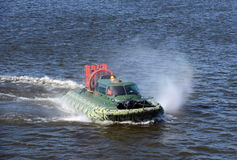 Amphibious boat Slavir 636 on the river Moscow. Stock Image