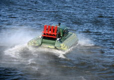 Amphibious boat Slavir 636 on the river Moscow. Royalty Free Stock Photos