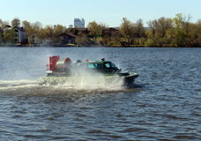 Amphibious boat Slavir 636 on the river Moscow. Royalty Free Stock Photography