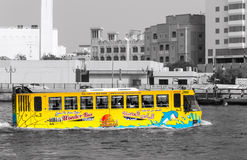 Amphibious Bus Dubai Royalty Free Stock Photography