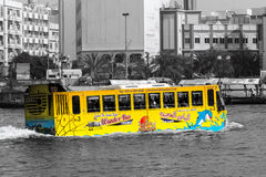 Amphibious Bus Dubai Royalty Free Stock Images