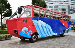 Amphibious bus. Scene of the Japanese amphibious sightseeing bus stock photos
