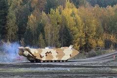 Amphibious Carrier. NIZHNY TAGIL, RUSSIA - SEP 26, 2013: The international exhibition of armament, military equipment and ammunition RUSSIA ARMS EXPO (RAE-2013 royalty free stock images