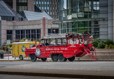 Amphibious DUKW  red vehicle Stock Images