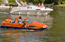 Amphibious Hybrid Car on River Thames Stock Images