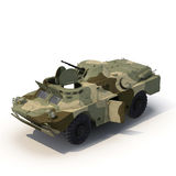 Amphibious Tank on White 3D Illustration Stock Images