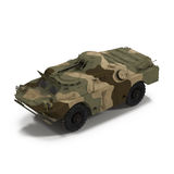 Amphibious Tank on White 3D Illustration Royalty Free Stock Photo