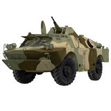 Amphibious Tank on White 3D Illustration Royalty Free Stock Photos