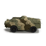 Amphibious Tank on White 3D Illustration Stock Images