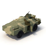 Amphibious Tank on White 3D Illustration Royalty Free Stock Image