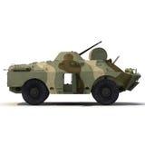 Amphibious Tank on White 3D Illustration Stock Image