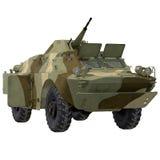 Amphibious Tank on White 3D Illustration Royalty Free Stock Photo