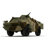 Amphibious Tank on White 3D Illustration Stock Photos