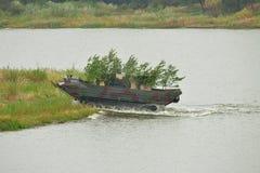 Amphibious transport vehicle PTS-2 Royalty Free Stock Image