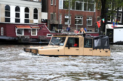 Amphibious vehicle Stock Images
