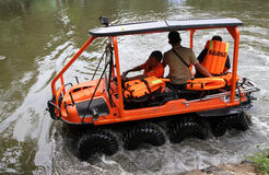 Amphibious vehicle Stock Photography
