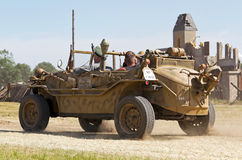 Amphibious WW2 car Stock Photography