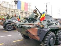 amphibische Fördermaschine mit Maschinengewehr- Lizenzfreie Stockfotografie