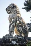 AMPHIPOLIS GREKLAND - FEBRUARI 23, 2016: Lejonet av Amphipolis, Fotografering för Bildbyråer