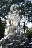 AMPHIPOLIS GREKLAND - FEBRUARI 23, 2016: Lejonet av Amphipolis, Royaltyfria Bilder