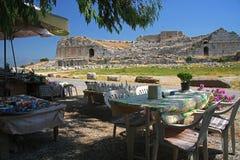 Amphiteater i Milet Arkivfoto