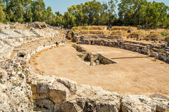 Amphiteatre in Syracusa Stock Photos