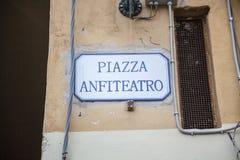 Amphiteatrevierkant in Luca, Italië Royalty-vrije Stock Foto