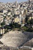 Amphithéâtre à Amman, Jordanie Images libres de droits