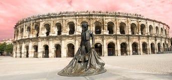 Amphithéâtre à Nîmes Images libres de droits